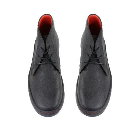 Saffiano Chukka Sneakers // Black (US: 7)