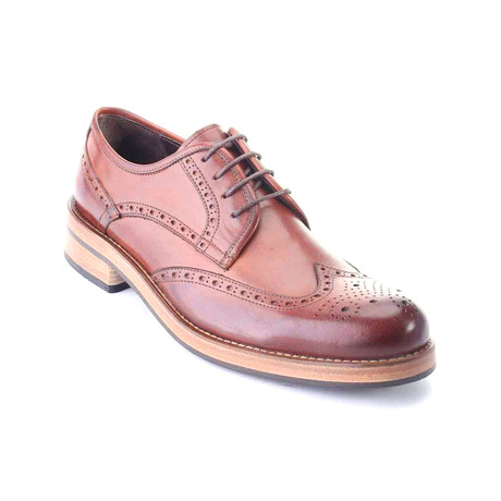 Full Brogue Perforated Wingtip Derby // Antique Tobacco (Euro: 39)