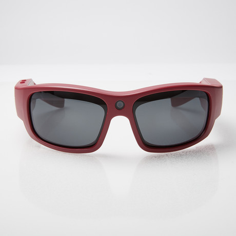 Pro 1 HD // Video Camera SunGlasses (Maroon)