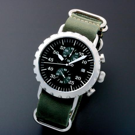 Peregrine Squadron Pilot Chronograph Quartz // Limited Edition // PSA-CH-SB-2G // Unworn