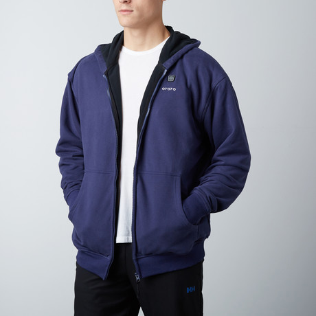 Heated Hoodie // Navy Blue