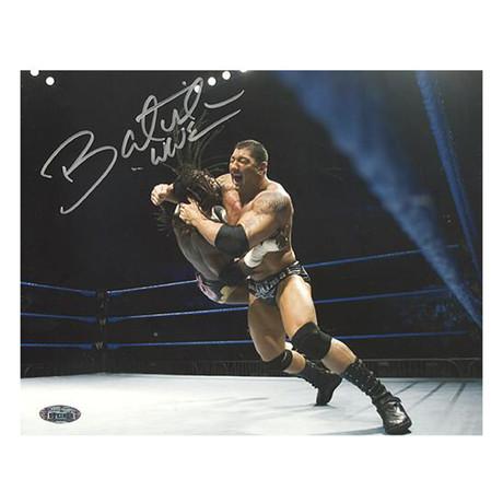 Signed Batista Action Framed Photo