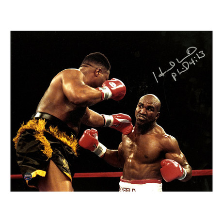 "Evander Holyfield Signed Framed Photo vs. Ray Mercer (16""W x 20""H)"