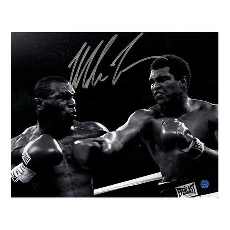Mike Tyson Signed Framed Photo vs. Muhammad Ali
