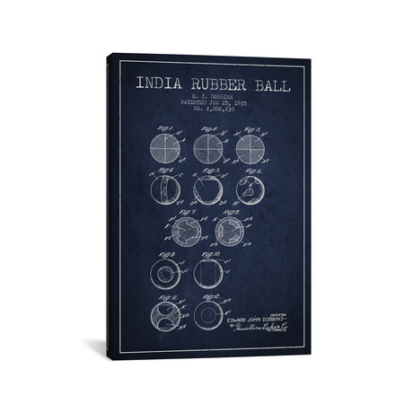 India Rubber Ball // Navy Blue
