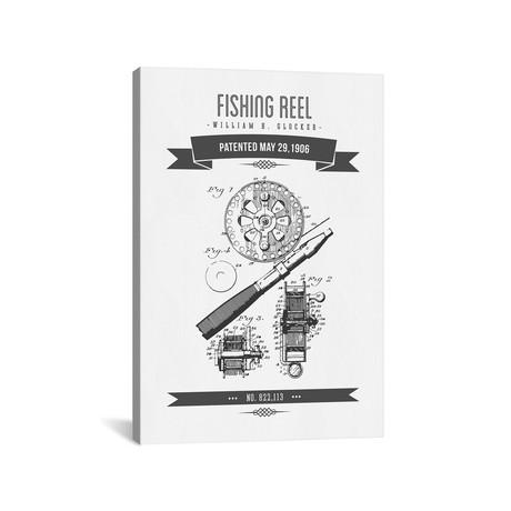 W.H. Glocker Fishing Reel Patent Sketch