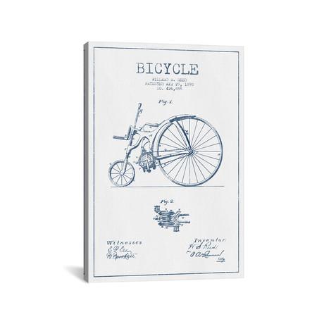 Willard S. Reed Bicycle Patent Sketch