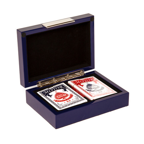 Blue Lacquer Poker Set