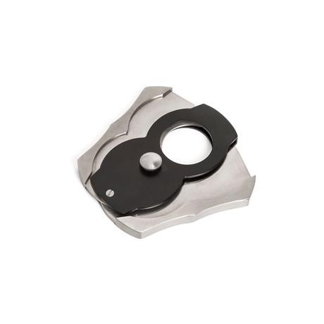 Harvey Foldable Cigar Cutter // Black + Silver