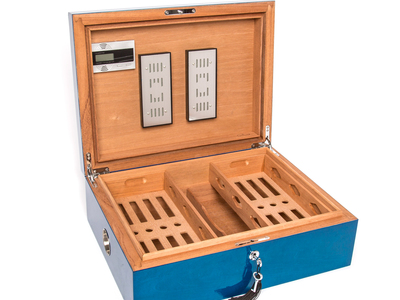 photo of Donovan Large Cigar Humidor Box (Blue) by Touch Of Modern