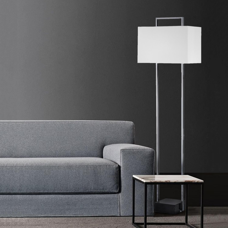 Stratum Floor Lamp Chrome Nova Lamps Touch of Modern