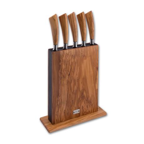 Vertical Block + Set of 5 Knives