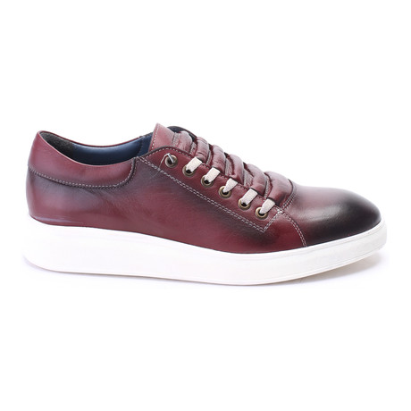 Concealed Lace Sneaker // Bordeaux
