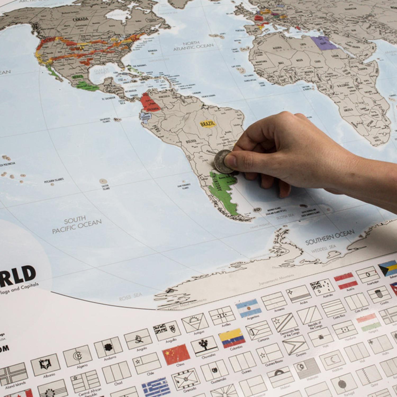 Travel tracker map platinum landmass goods touch of modern travel tracker map platinum gumiabroncs Images