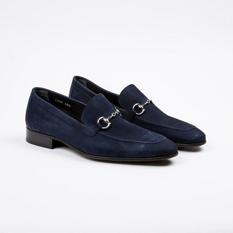 Suede Apron Toe Loafer // Navy (US: 7)