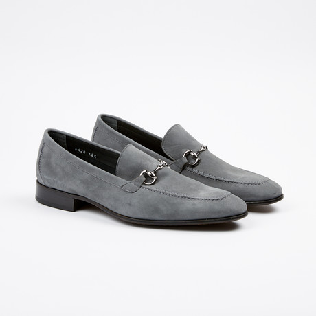 Suede Apron Toe Loafer // Grey (US: 7)