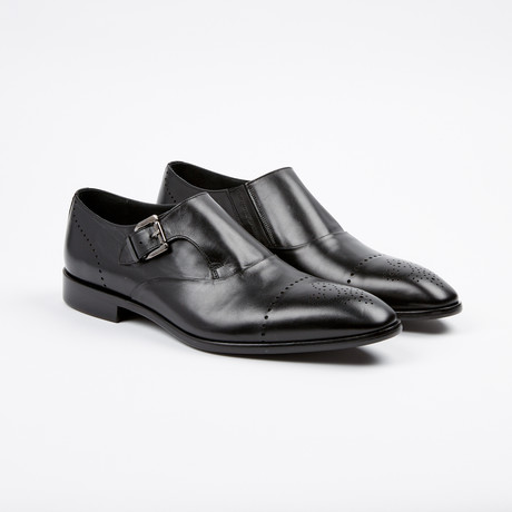Medallion Toe Single Monkstrap // Black (US: 7)