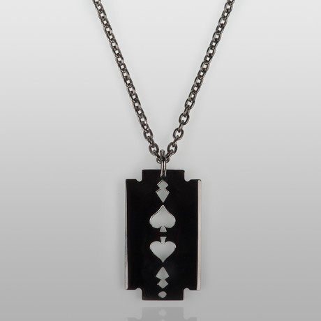 Razor Necklace // Black