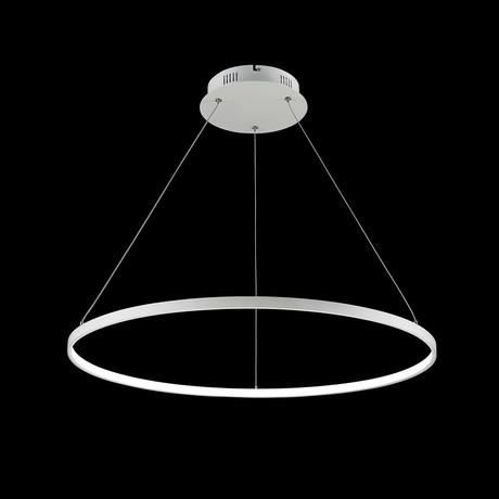 Floating LED Round Chandelier // Single