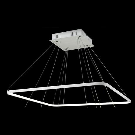 Floating LED Rectangle Chandelier // Single