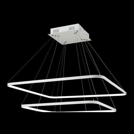 Floating LED Rectangle Chandelier // Double