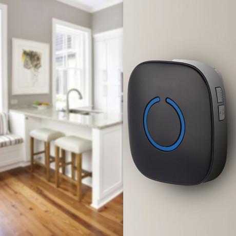 Portable Wireless Door Bell Chime Pack // Matte Black