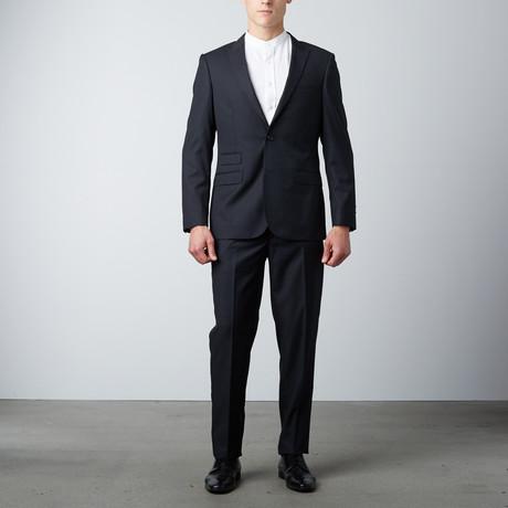 Slim Fit Suit // Textured Shimmer Black (US: 40R)