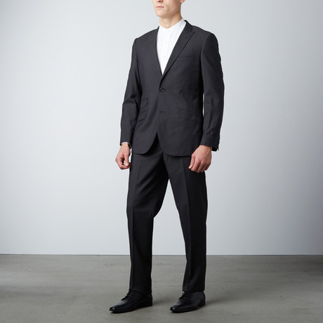 Slim Fit Suit // Dotted Black