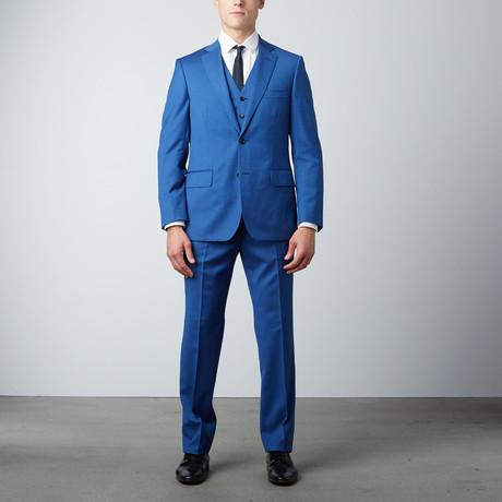 Via Roma // Half-Canvas 3-Piece Suit // Cobalt (US: 36S)