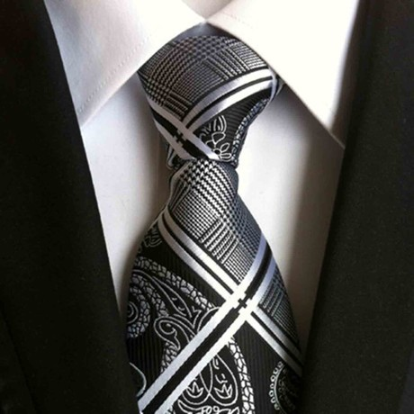 Hand Made Tie // Grey + Black