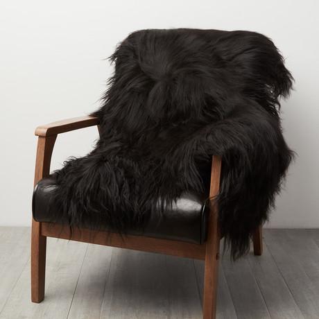 Black Icelandic Sheepskin