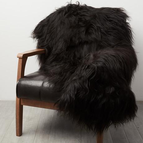 Double Black Icelandic Sheepskin