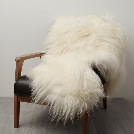 Double Icelandic Sheepskin // White