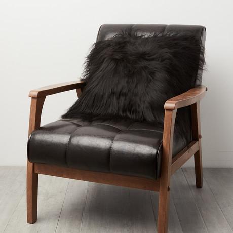 Black Icelandic Sheepskin Pillow Cover
