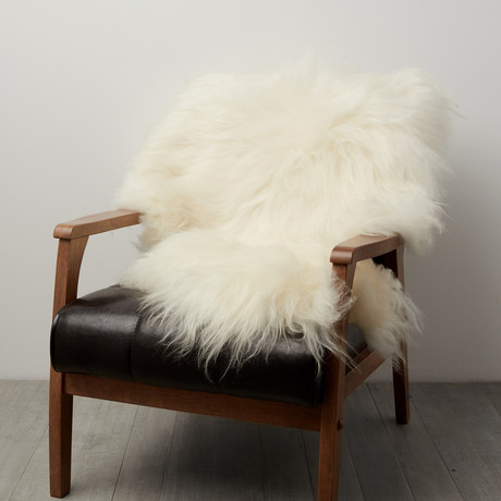 White Icelandic Sheepskin