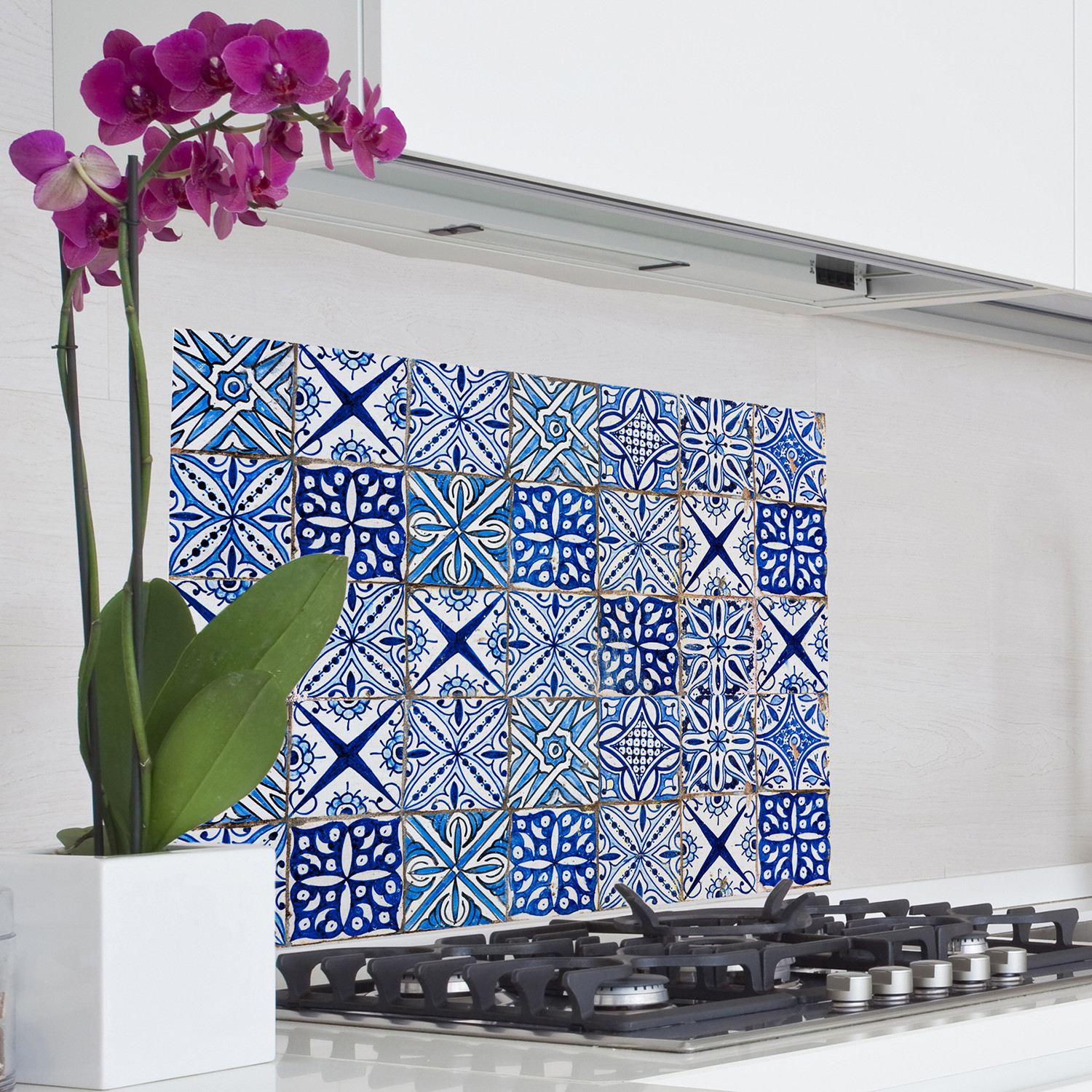 Blue Azulejos Kitchen Panel Decal - Brewster Home Fashions - Touch ...