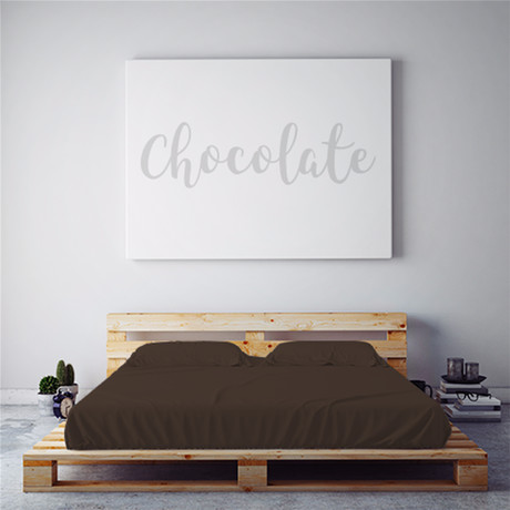 Moisture Wicking 1500 TC Soft Sheet Set // Chocolate (Full)
