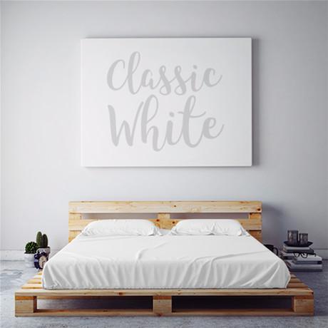 Moisture Wicking 1500 Thread Count Sheet Set // Classic White