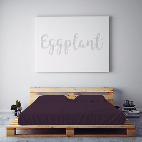 Moisture Wicking 1500 Thread Count Sheet Set // Eggplant