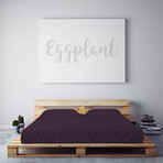 Moisture Wicking 1500 Thread Count Soft Sheet Set // Eggplant (Full)