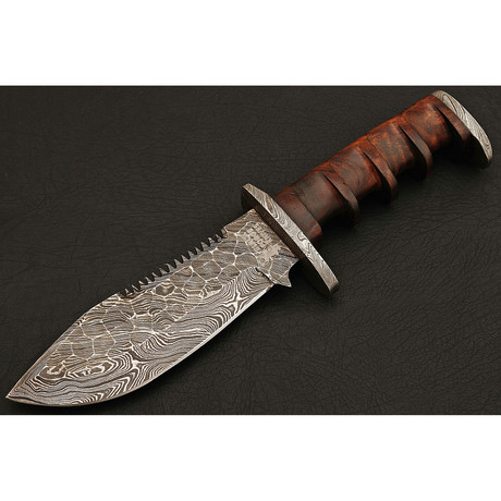 Damascus Tracker Knife // BK43