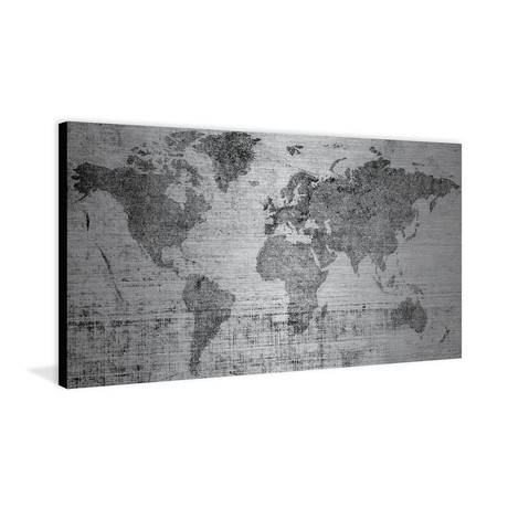 Continents Divided // Brushed Aluminum