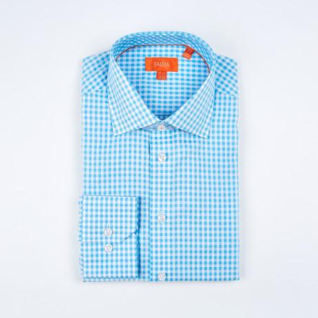Romeo Long-Sleeve Button-Up Shirt // Aqua