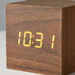 Block Clock // Walnut with White LED