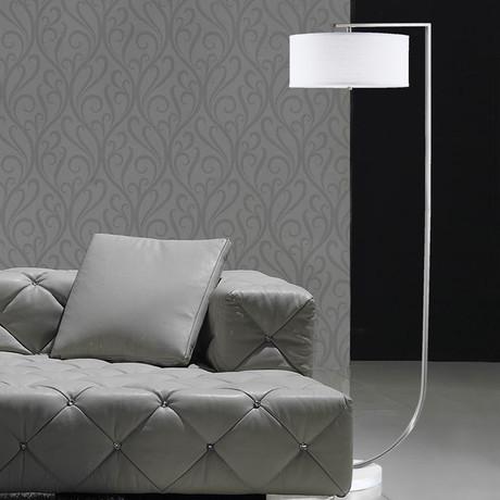 Library Floor Lamp // Brushed Nickel