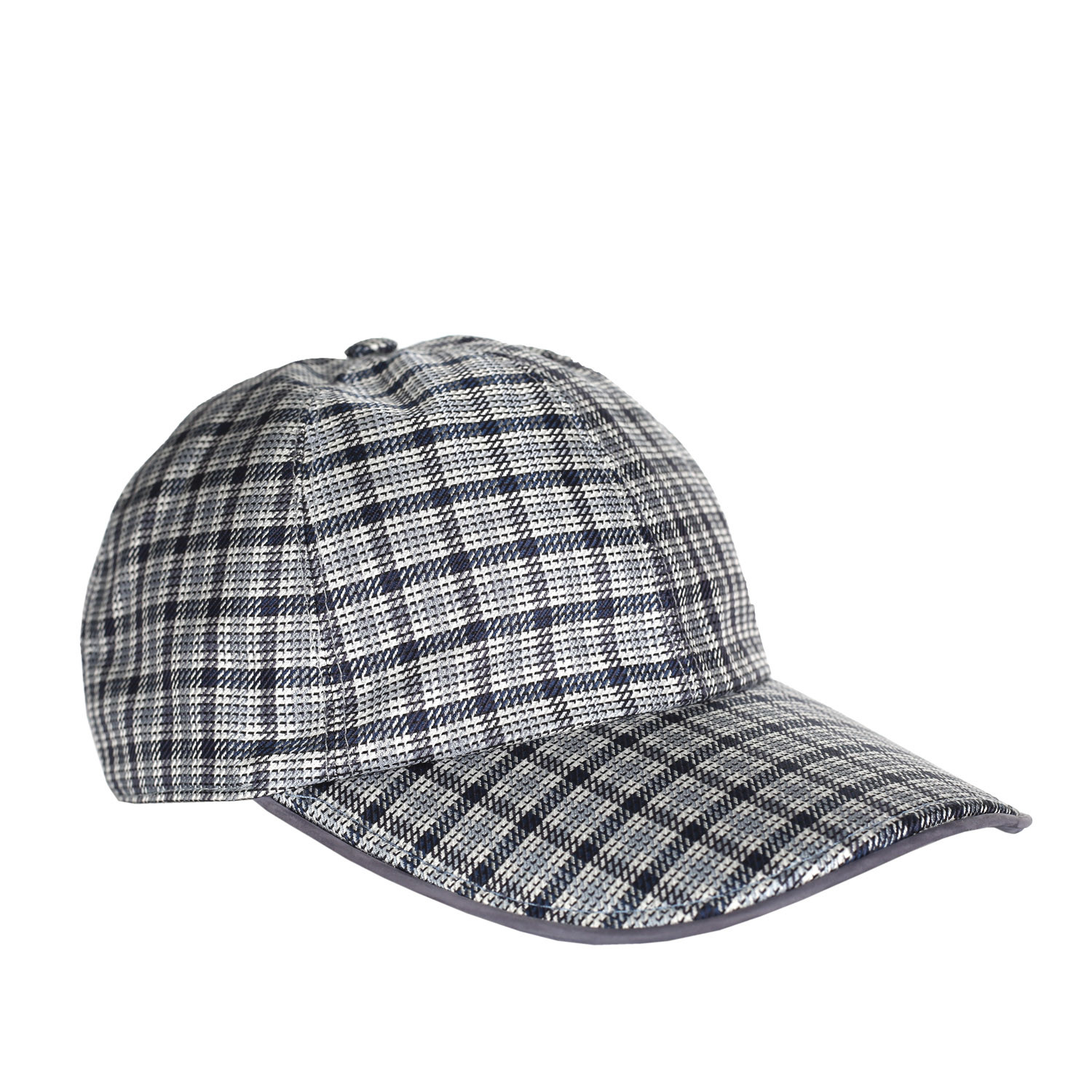7dd0f8f5858 A5e48c28c6c2c8c228751ba90bd0cdee medium · Check Print Leather Trim Baseball  Hat ...