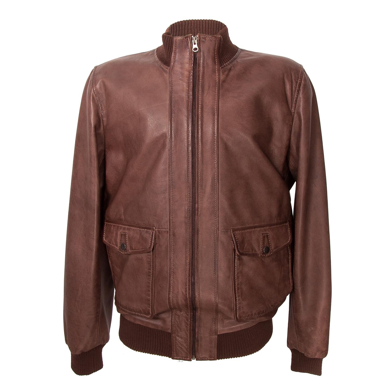 Leather bomber jacket sale