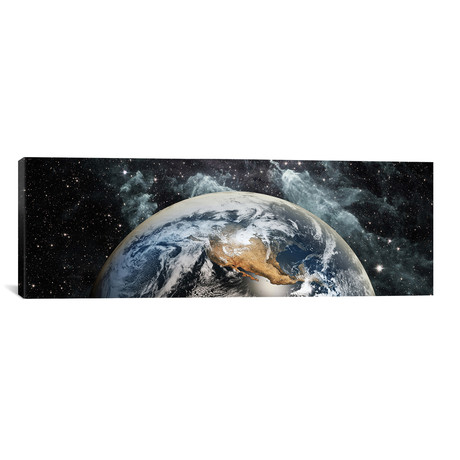 """Earth in space // Panoramic Images (60""""W x 20""""H x 0.75""""D)"""