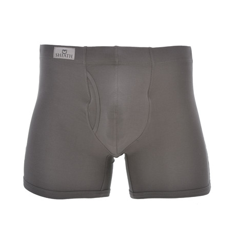 Sheath 3.21 Dual Pouch Fly Underwear // Gray (Small)