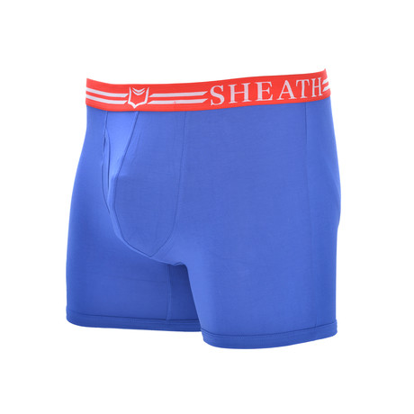 Sheath 4.0 // Dual Pouch Fly Underwear // Red + White + Blue (Small)